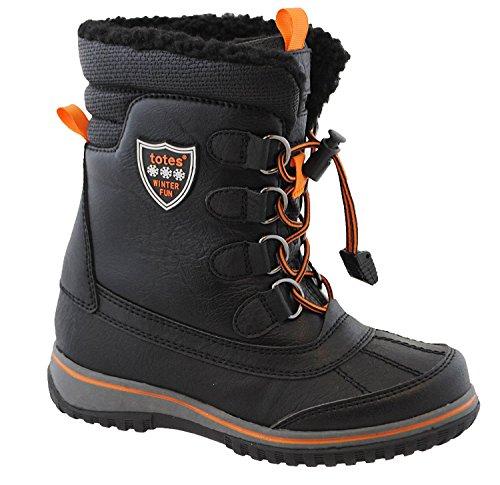 totes Kids' Comfort Snow Boot, Black, 4