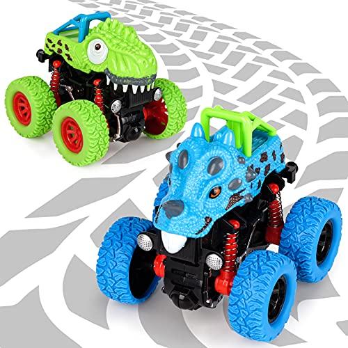 Spielzeug ab 2 3 4 5 Jahre Junge, Dinosaurier Spielzeug Auto Geschenke für Jungen 3-8 Jährige Dino Spielzeug Kinder Mädchen 3 4 5 Jahre Geburtstag Geschenk Baby Spiele ab 2-6 Jahr Kinderpielzeug Auto