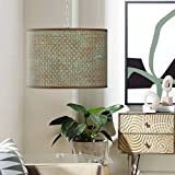 Interweave Patina Shade 13 1/2' Wide Swag Plug-in Chandelier - Giclee Gallery