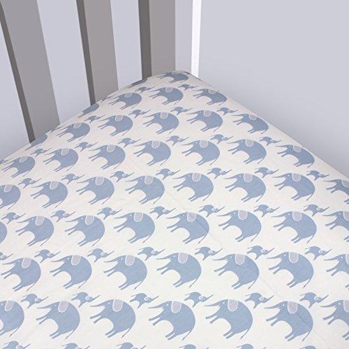 Magnolia Organics Elephant Crib Sheet Product Image