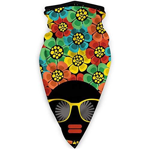 MLNHY Cubierta de cara cómoda a prueba de viento, estilo abstracto de pelo de retrato de mujer con flores gafas de sol labios Graphic.jpg,Decoraciones faciales impresas para todos