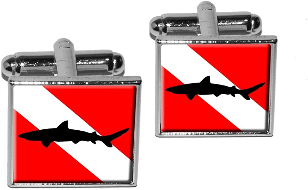 Graphics and More Diving overseas Flag - Dive Shark depot Diver Scuba Square