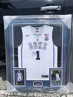 Zion Williamson Autographed Signed Duke Jersey PSA Framed