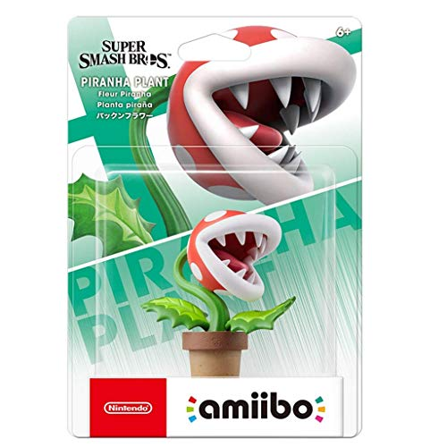 CQ Super Smash Bros. Amiibo: Piraña Plsnt Figurita!Figura de acción de la Serie Super Smash Bros. Juego Obra Maestra Figura Coleccionable de importación de Japón (Wii U / 3DS / Switch) Toys