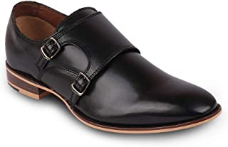Franco Leone Men Leather Black Formal Shoes
