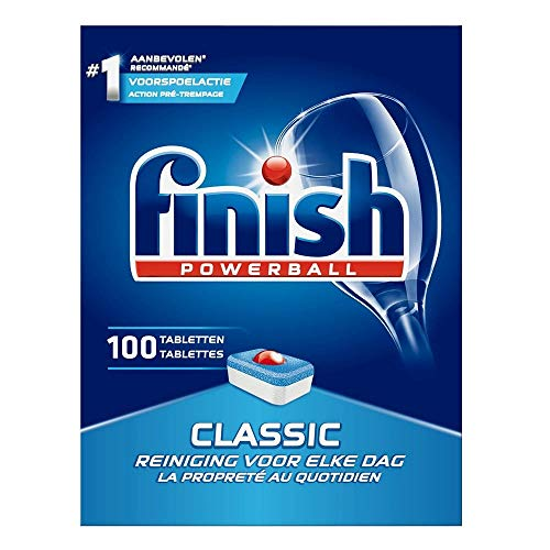 4 x Finish Powerball Dishwasher Tablets - Classic - 100 Stück