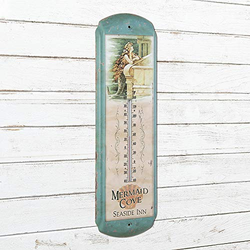 Ohio Wholesale Vintage Mermaid Thermometer, from our Water Collection
