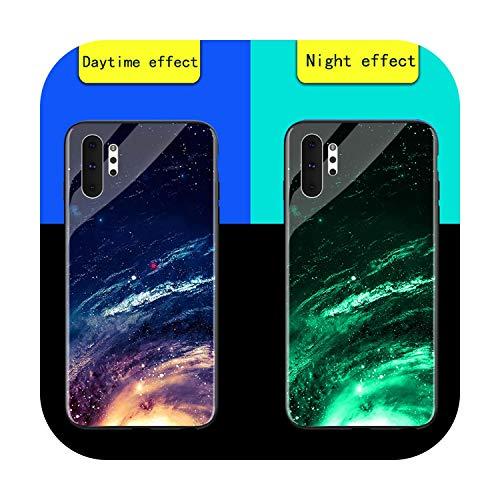 Phonecase - Carcasa de cristal templado para Samsung Galaxy S8 S9 S10E Plus Shine Bag Funda para Samsung Note 8 9 10 Pro