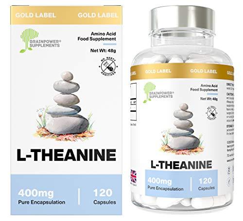 L-Théanine Pure par 400mg Brainpower Supplements...