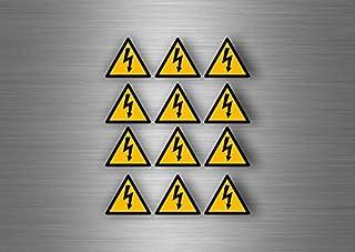 Akacha 12x Sticker Adesivi Adesivo Pericolo Elettrico Segnale targhette adesive