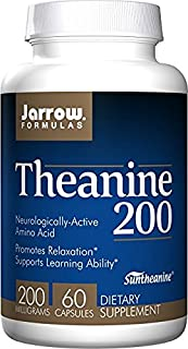 Jarrow Formulas - Theanine 200, 200 mg, 60 Capsules (Pack of 2)