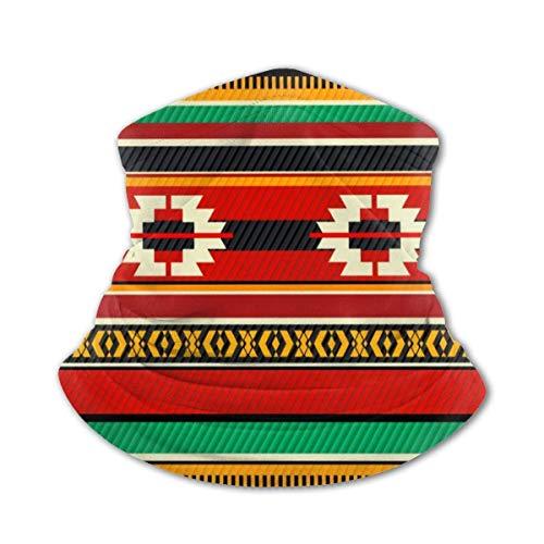 Ahdyr Alfombra de Tienda de Tejido beduino Sombreros multifuncionales Niños Niña Cara Diadema Cuello Polaina Azul Acuarela Patrón marroquí Pasamontañas para Adolescentes