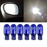 T10 W5W Halogen White Bulbs 194 168 501 Wedge Halogen bulb 12V 5W White for Car Parking Light Side Maker Dashboard Lamp Bulb (6PCS)
