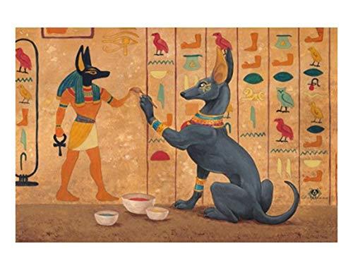 Puzzle 1000 Piezas para Adultos,Mural Egipcio,El Rompecabezas De Madera, Rompecabezas Juegos para La Familia, Brain Challenge Rompecabezas para Niños, Juegos De Matriz-Subordinada, Inteligencia Romp