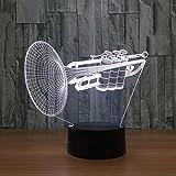 Led Deko Instrument Trompete 3D 7 Farbe Led Nachtlampen Für Kinder Touch Led Usb Tisch Lampara Lampe Baby Schlafen Nachtlicht Mit fernbedienung