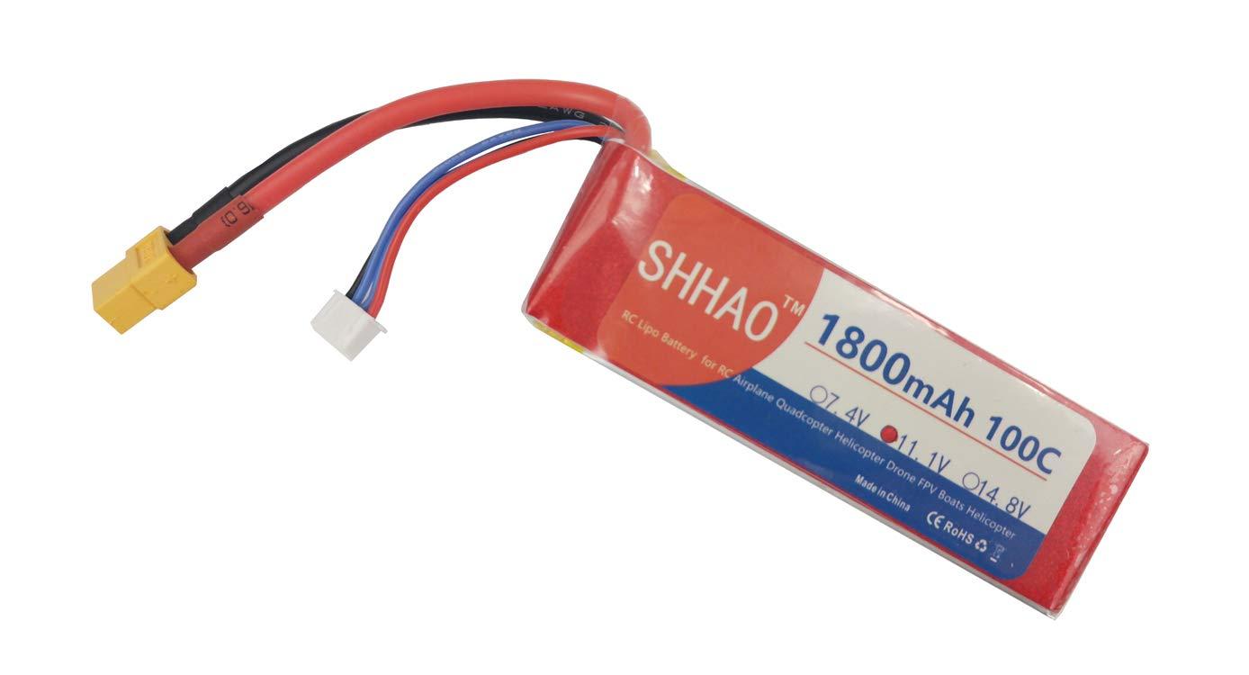 Bateria LIPO 11.1V 1800mah 100C 3S XT60 Plug SHHAO