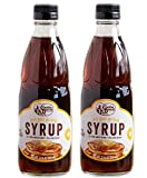 Pure Natural Pancake Syrup over a hearty portion of buttermilk pancakes and you've got the makings of a great breakfast. 100% pure natural syrup. Blend with 55% pure maple syrup and 45% cane syrup. Great taste and delicious. Size: 12 oz pack of 2.