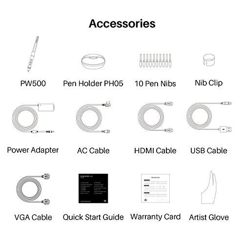 HUION KAMVAS Pro 22 Profesional Monitor de gráficos 8192 Sensible a la presión con lápiz sin batería y 10 Teclas personalizables1 Touch Bars GT-221 Pro V2 Graphics Tablet con Pantalla de Monitor