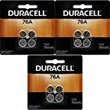 Duracell 76A LR44 Duralock 1.5V Button Cell Battery 12 Pack Exp. 2018...