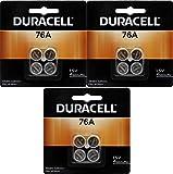 Duracell 76A LR44 Duralock 1.5V Button Cell Battery 12 Pack Replaces: LR44, CR44, SR44, 357, SR44W, AG13, G13, A76, A-76, PX76, 675, 1166a, LR44H, V13GA, GP76A, L1154, RW82B, EPX76, SR44SW, 303, SR44, S303, S357, SP303, SR44SW
