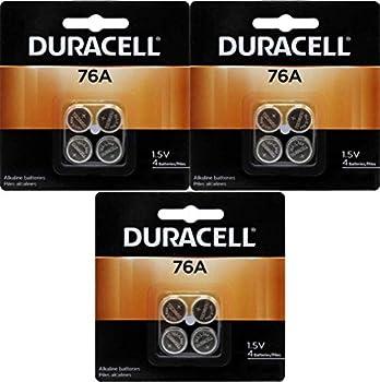 Duracell 76A LR44 Duralock 1.5V Button Cell Battery 12 Pack