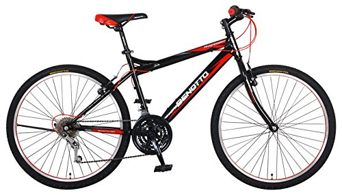 Benotto MRHPRO2621UNNE Bicicleta de Acero Rodada R26, Hombre, Frenos V, 21 Velocidades