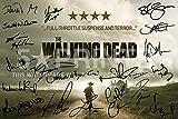 The Walking Dead Poster avec autographes imprimés de Robert Kirkman Andrew Lincoln Jon Bernthal Norman Reedus Laurie Holden Sarah Wayne Callies Steven Yeun 30 x 20 cm