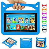 H D 8 Tablet Case - Auorld Kid-Proof Case with Stand for All New H D 8 Tablet (Compatible with 2018/2017/2016 Release)-Blue