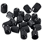 25 Pack Tyre Valve Dust Covers - Plastic Tire Caps for Bike, Car, Trucks, Motorbike, and Bicycle - Color Black