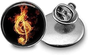 Goodnight cat Music Note Tie Tack, Music Teacher Boutonniere Music Handmade Lapel Pin.
