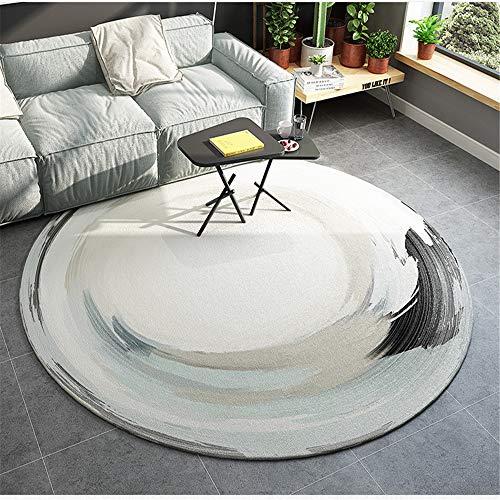 SONGHJ Alfombra Moderna Minimalista, Alfombra Redonda con Diseño Abstracto, Alfombra Antideslizante para El Hogar Que Absorbe El Agua