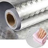 FEELING MALL Adhesivo de papel pintado para cocina, 60 x 2 m, resistente al aceite, resistente al agua, alta temperatura, autoadhesivo/extraíble, para estufas de gas (A)