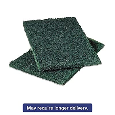 Scotch-Brite 86 Commercial Heavy-Duty Scouring Pad, Green, 6 x 9, 12/Pack
