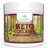 Live It Love It Keto Collagen French Vanilla Protein Creamer Powder with MCT Probiotics and Grass-Fed Hydrolyzed Collagen Protein, Type I & III,  Gluten-Free 30 Servings   20.21 Oz