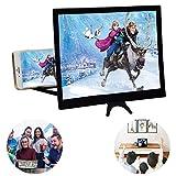 Tang Yuan Loupe d'écran de 12 pouces, loupe de telefonía portátil, loupe d'écran incurvée, loupe d'écran de soporte de telefonía portátil para todos los teléfonos inteligentes.
