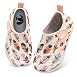 FEETCITY Kids Water Shoes for Baby Boys Girls Quick Drying Aqua Socks Beach Pool Swim Shoe Feather 6-12 Months Infant