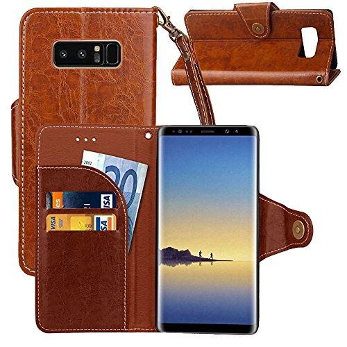 XYAL0002001 Xingyue Aile Hoezen & Hoezen Voor Samsung Galaxy Note 8 Retro Gek Paard Textuur Wax Nep Lederen Horizontale Flip Lederen Hoesje met Houder & Card Slots & Portemonnee & Lanyard, BRON