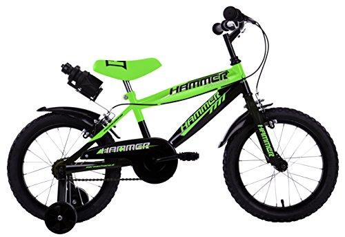 """Mario Schiano 250 16"""" Hammer New 01V Bike, Verde/Nero, Multi Colore"""