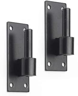 "Timberlane Genuine Heavy Duty Plate Pintle, 1"" Offset Shutter Hardware, Black Powder Coated Stainless Steel"