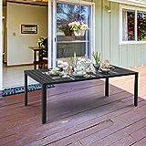 Gartentisch Aluminium Tisch Garten Terrasse Holz-Kunststoff - 7