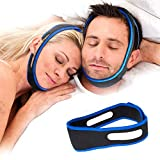 Snoring Solution,Anti Snoring Chin Strap Anti Snoring Devices Effective Stop Snoring Chin Strap for Women Men Adjustable Snore Reduction Snore Stopper Chin Straps Advanced Sleep Aids for Better Sleep