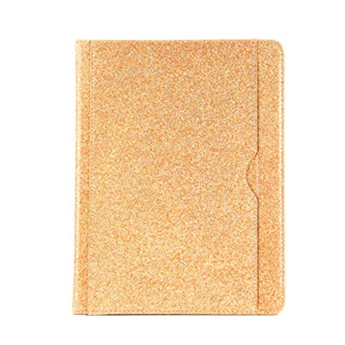 for iPad 2018 Case 9.7 Pencil Holder Soft Silicone Back Stand Smart Case for iPad Air 12/iPad pro 9.7 with Card Slot and Stand,Gold