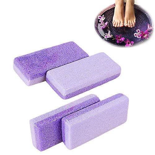 Lot de 4 gommeurs de peau morte ponce pour enlever les pieds, pédicure et exfoliation Violet