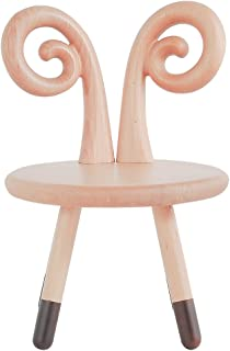 MDBYMX Bed end Stool Solid Wood Stool Kindergarten Children's Back Shoes Wooden Bench Stool Cartoon Stool Low Stool