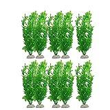 CIJK Plantas Artificiales De ABS Subacuático Acuario Decoración del Tanque De Peces Hierba Verde Visualización del Agua Adorno del Tanque De Peces Decoración del Acuario 10 Piezas