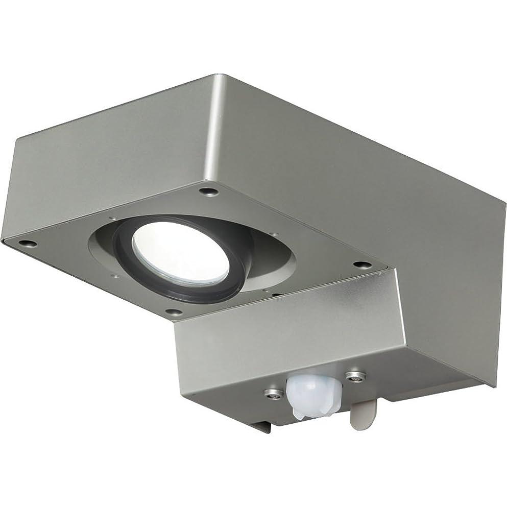 の上がる救援アイリスオーヤマ 屋外センサーライト スポット灯 白色 BOS-SN1-WS