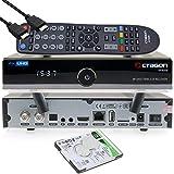 OCTAGON SF8008 4K UHD HDR Twin Sat - Ricevitore per disco rigido 2 x DVB-S2X Multistream - E2 Linux IPTV Smart TV Box, Media Server, PVR funzione di registrazione, HDMI, WiFi [1TB interno]