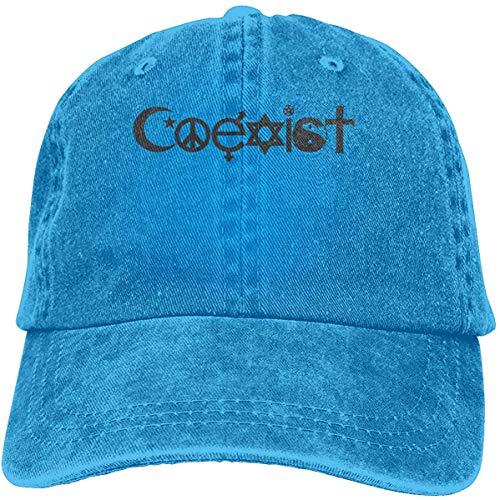 FTTUTY Original Coexist Symbols Baseball-Cap Twill Adjustable Dad-Hat