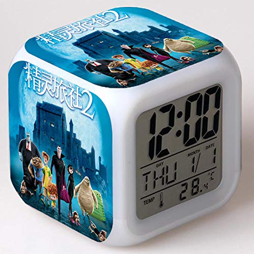 Wizard Hostel Alarm Clocks Kids LED Clock Cartoon Night Light Flash 7 Color Changing Digital Clock Electronic Desk Clock,Style 42, Birthday