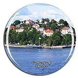 Weekino スウェーデン南ヨーテボリ群島ヨーテボリ冷蔵庫マグネット3Dクリスタルガラス観光都市旅行お土産コレクションギフト強い冷蔵庫ステッカー